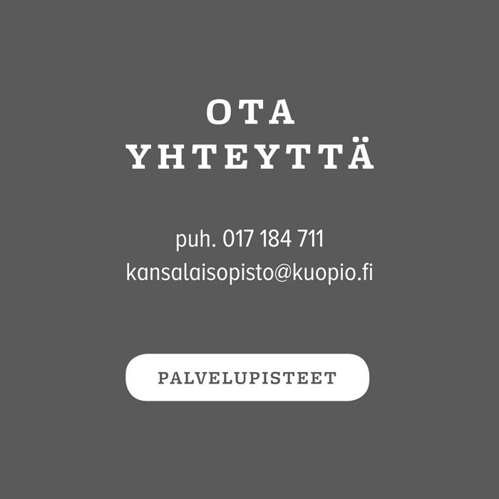 Linkki Kuopion kansalaisopiston yhteystietoihin.
