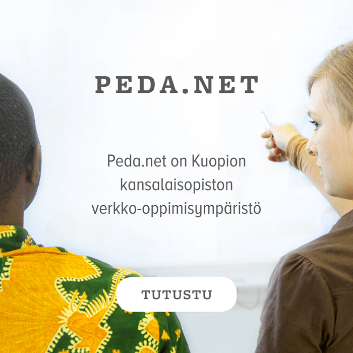 Linkki Kuopion kansalaisopiston Peda.net-sivustolle.